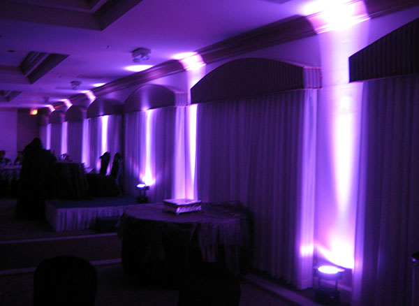 LED Purple Uplighting