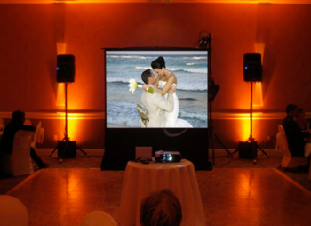 Projection Screen Los Angeles Wedding